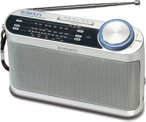 A portable radio.